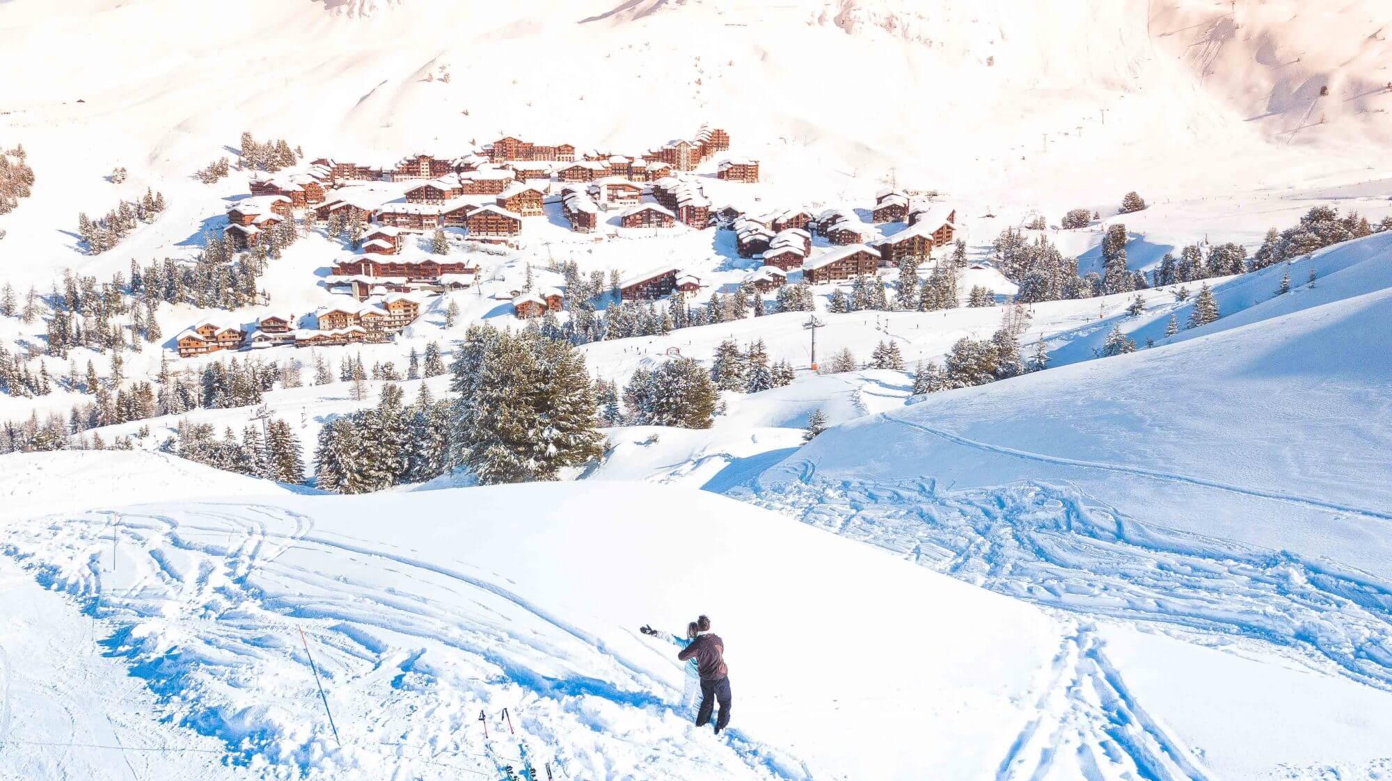 La Plagne : une magnifique station de ski au coeur des Alpes