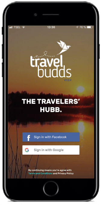 application voyage travelbudds